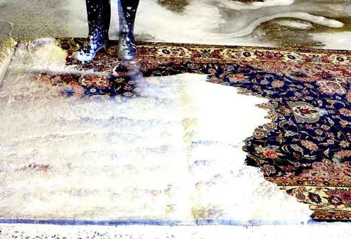 قالیشویی در گیشا