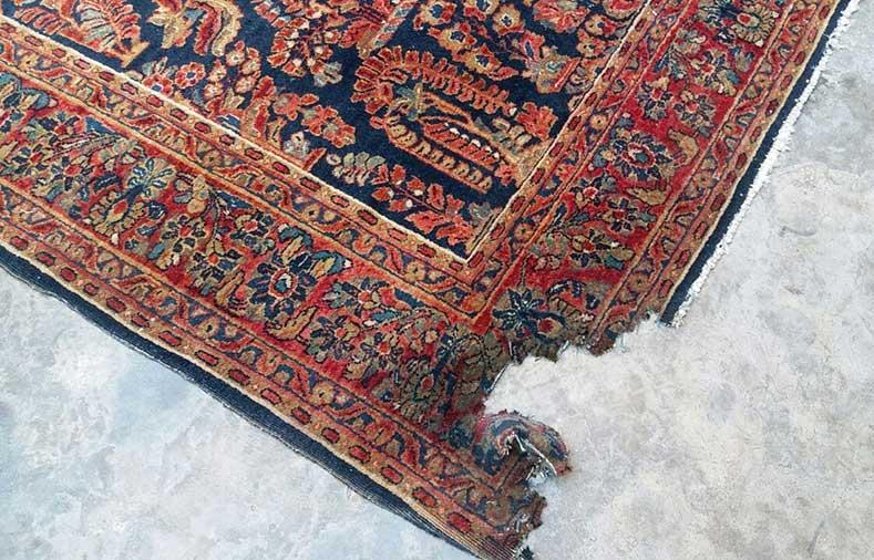رفع سوختگی فرش دستبافت