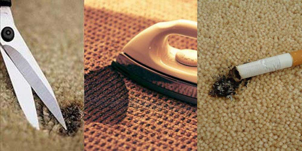 انواع سوختگی فرش