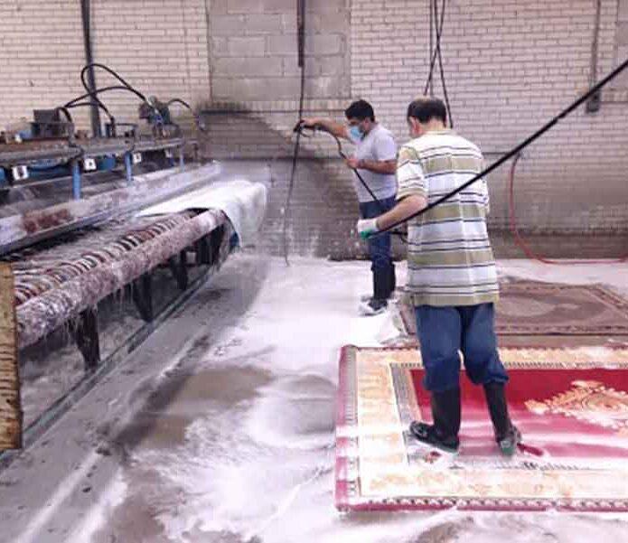 قالیشویی در منصورآباد